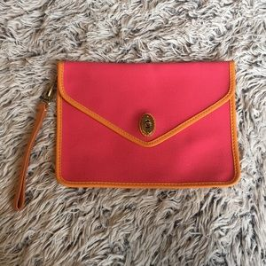 Colorful Fossil envelope style clutch wristlet